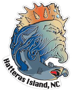 KSL Triton Sticker - Hatteras Island, NC