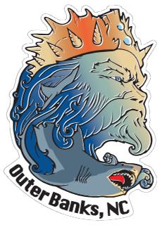 KSL Triton Sticker - Outer Banks, NC